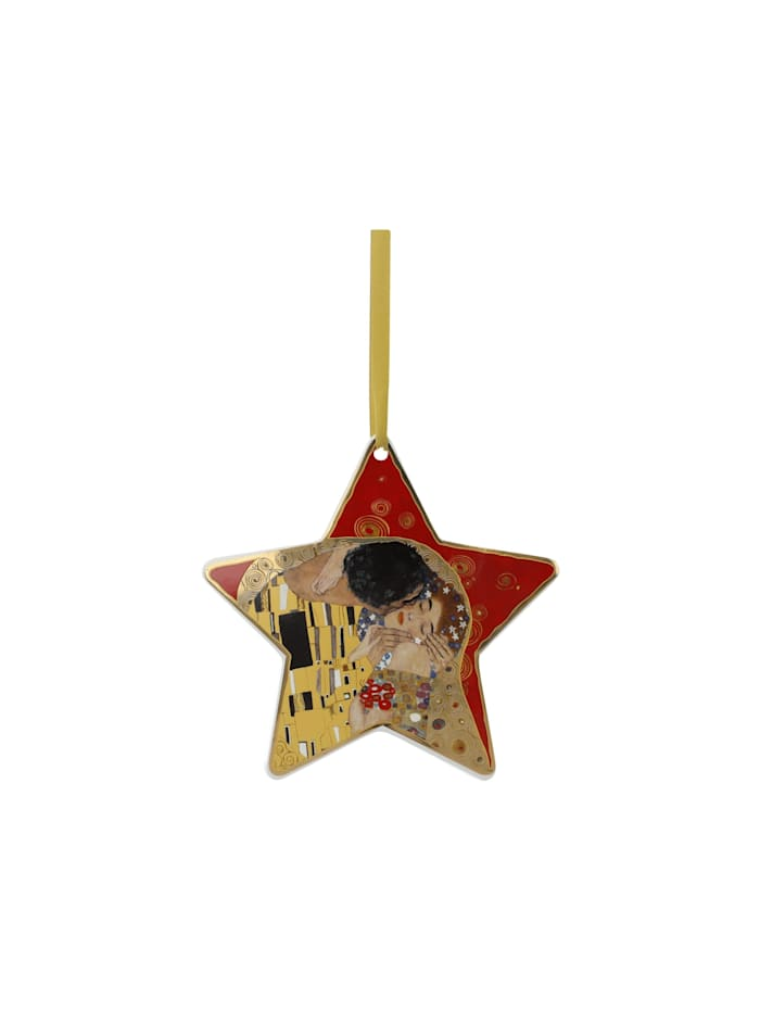 Goebel Hängeornament Gustav Klimt - Der Kuss rot