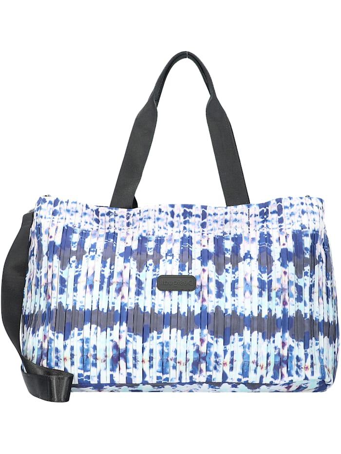Desigual Pleats Shopper Tasche 47 cm, indigo