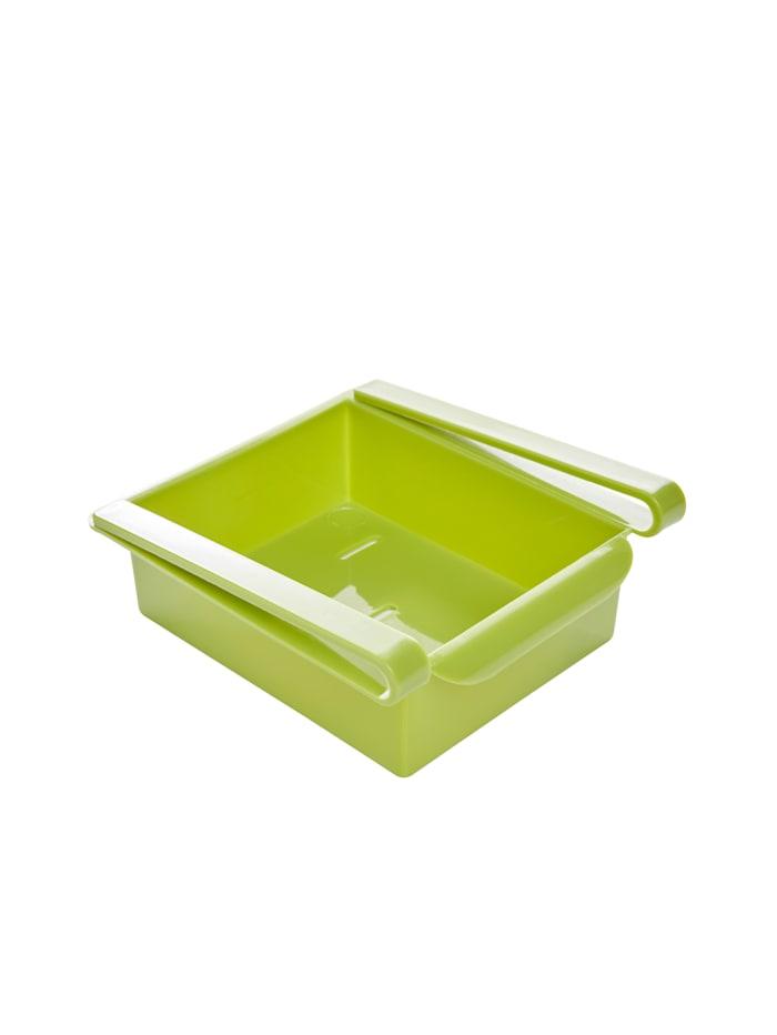 KLiNGEL 4 tlg. Set Kühlschrankorganizer, Weiß/Grün