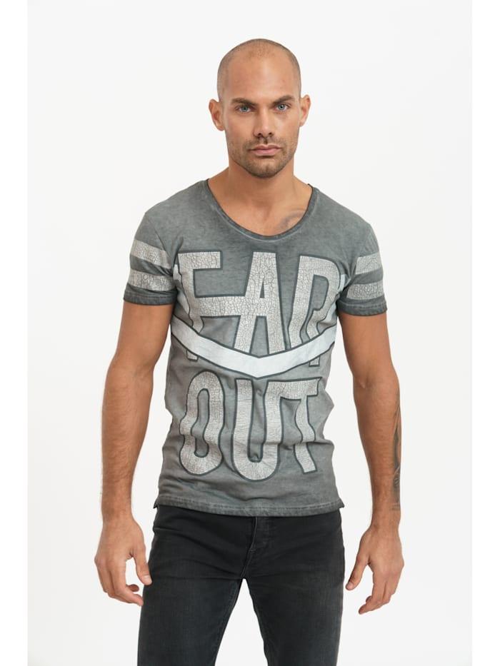 trueprodigy T-Shirt Brandon mit lässigem Statement-Print, 0403-Anthracite