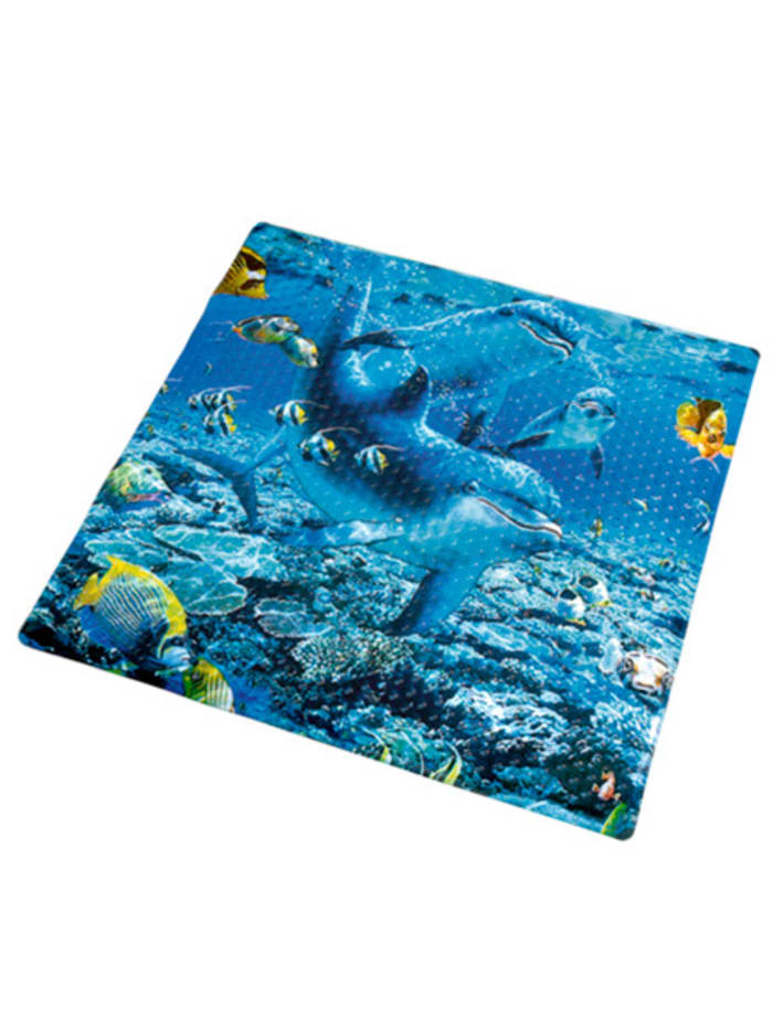 Duschwannen-Einlage 'Delphin Maritim', Blau