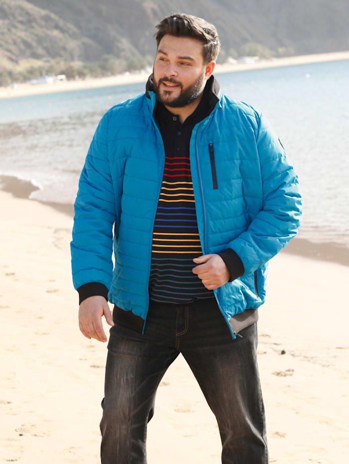 STOY BY KILLTEC Prešívaná bunda so skladateľnou kapucňou, Modrá