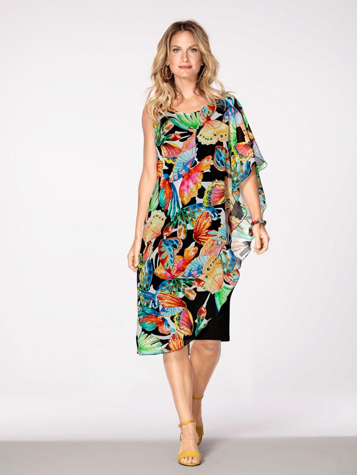 Kleid mit farbenfrohem Druck