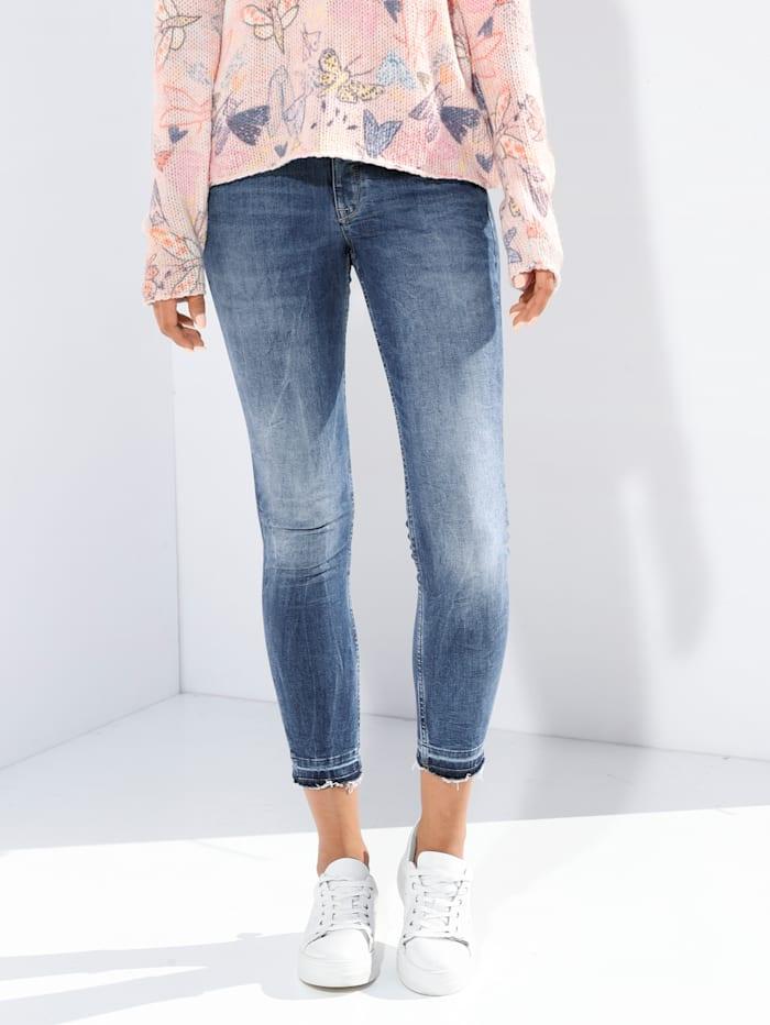 Lieblingsstück Jeans mit Fransen am Saum, Blau