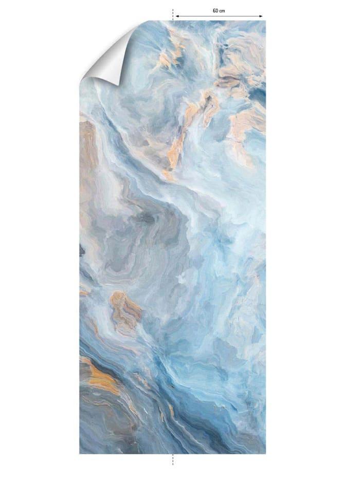 mySPOTTI Tapete, Marmor, blau