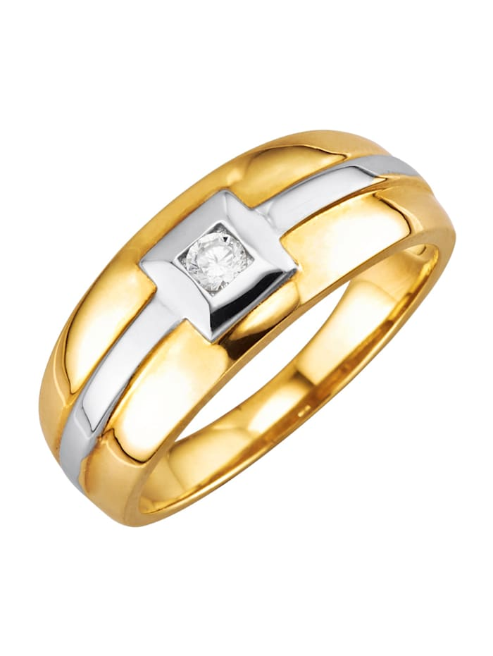 Förlovningsring med briljant, Guldfärgad