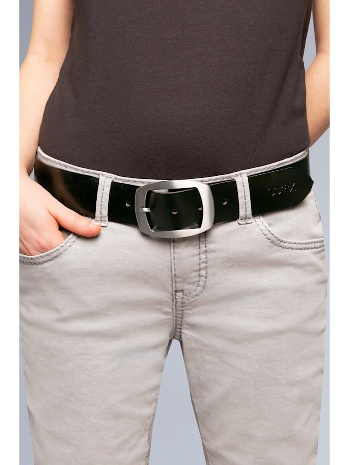 SOCCX Gürtel aus Leder, black