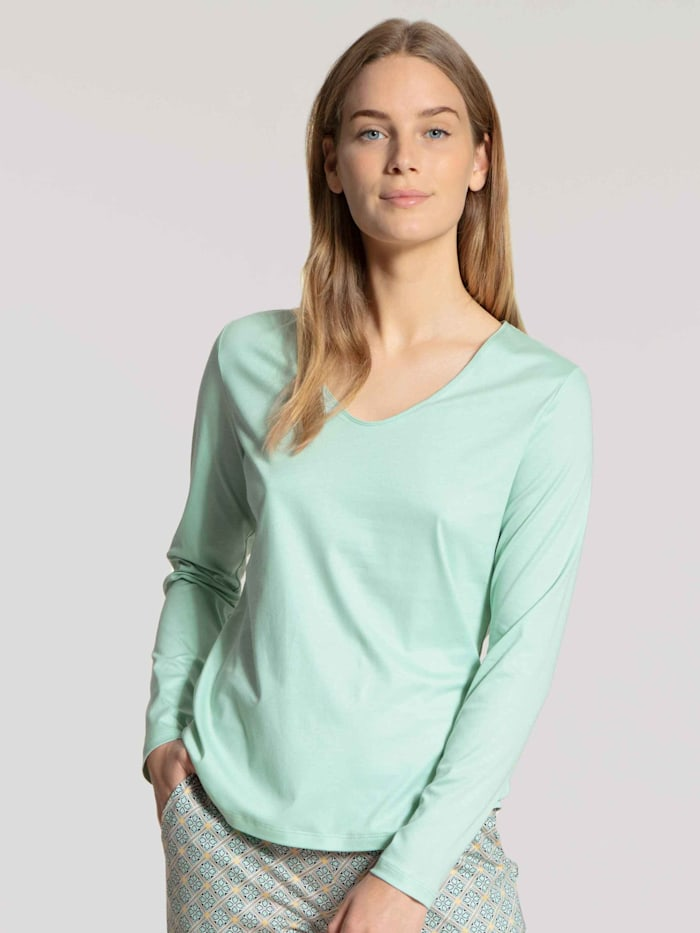 Langarm-Shirt, V-Neck STANDARD 100 by OEKO-TEX zertifiziert