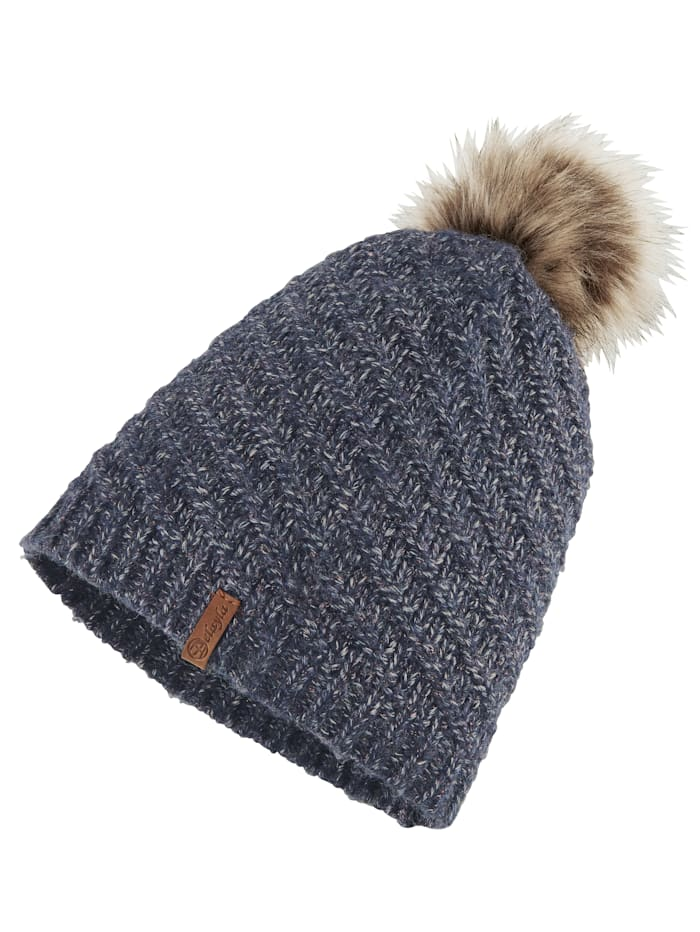 Knitted hat with a touch of wool