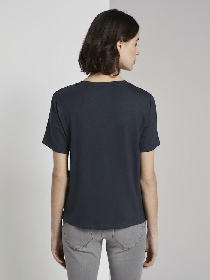 T-Shirt mit Print aus Sommersweat