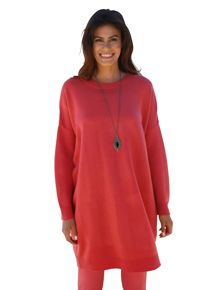 AMY VERMONT Pullover in Oversize-Form, Koralle