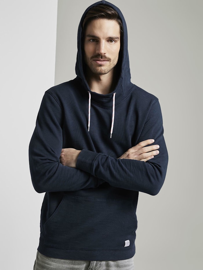 Tom Tailor Hoodie in Washed-Look, Sky Captain Blue