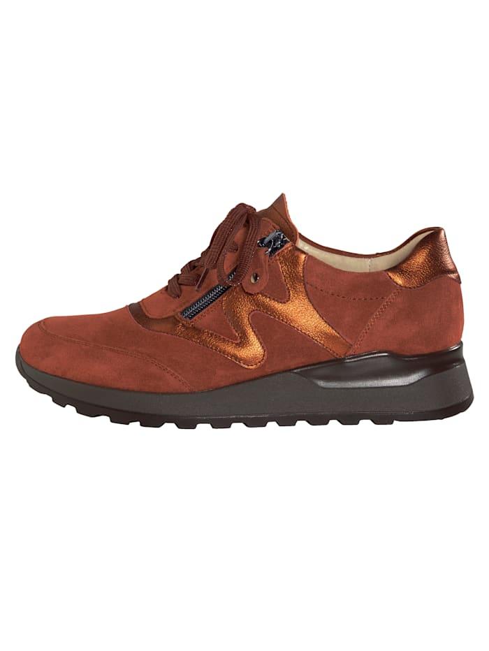 Sneakers avec glissière côté