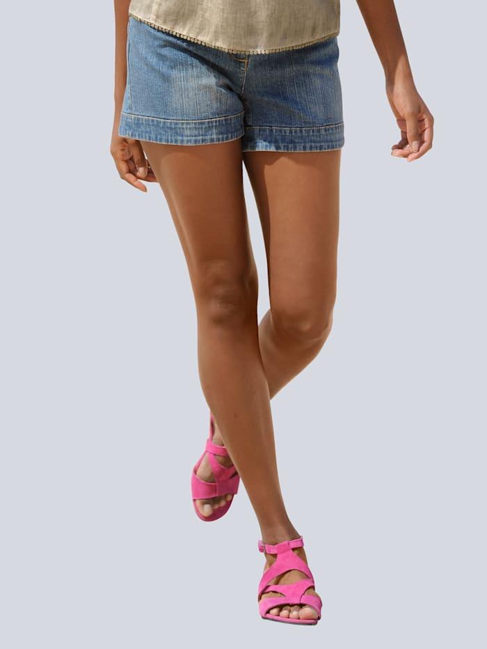 Alba Moda Jeansshorts i 5-ficksmodell, Blå