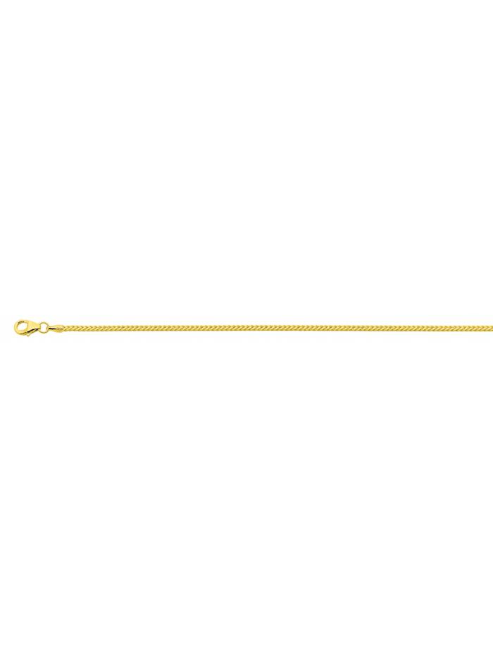 1001 Diamonds Damen Goldschmuck 585 Gold Bingo Halskette 42 cm Ø 1,3 mm, gold