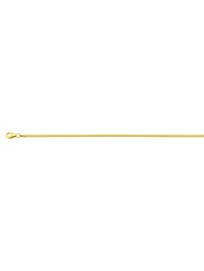 1001 Diamonds Damen Goldschmuck 585 Gold Bingo Halskette 50 cm Ø 1,3 mm, gold