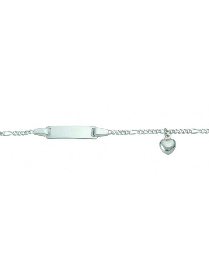 1001 Diamonds Damen Silberschmuck 925 Silber Figaro Armband Mit Motiven 16 cm Ø 1,7 mm, silber