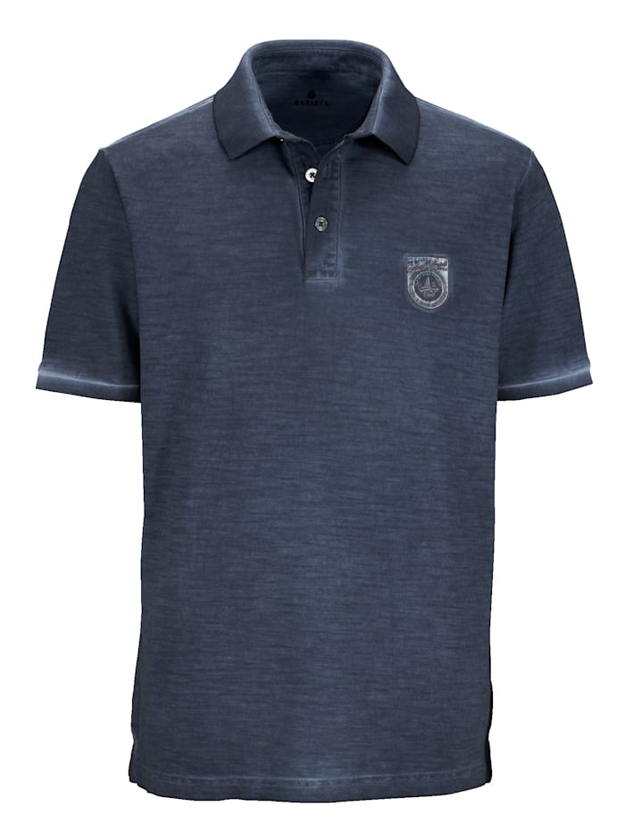 Poloshirt in oil dyed wassing