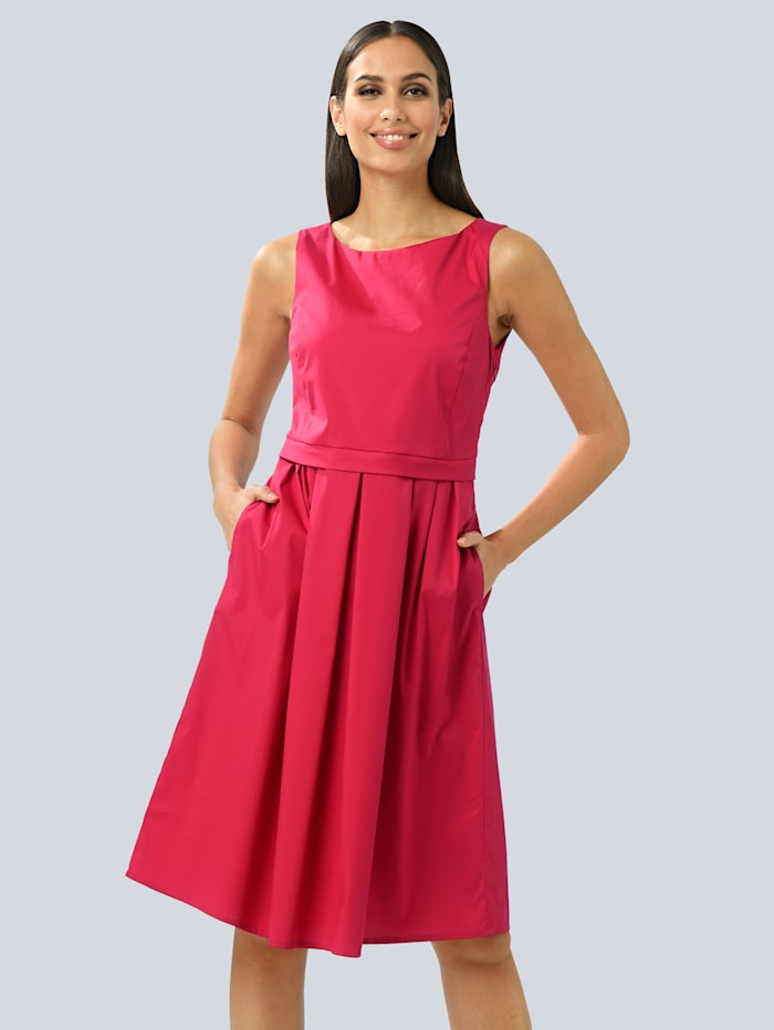 Alba Moda Princesskleid mit Faltenrock aus Baumwollpopeline, Rot