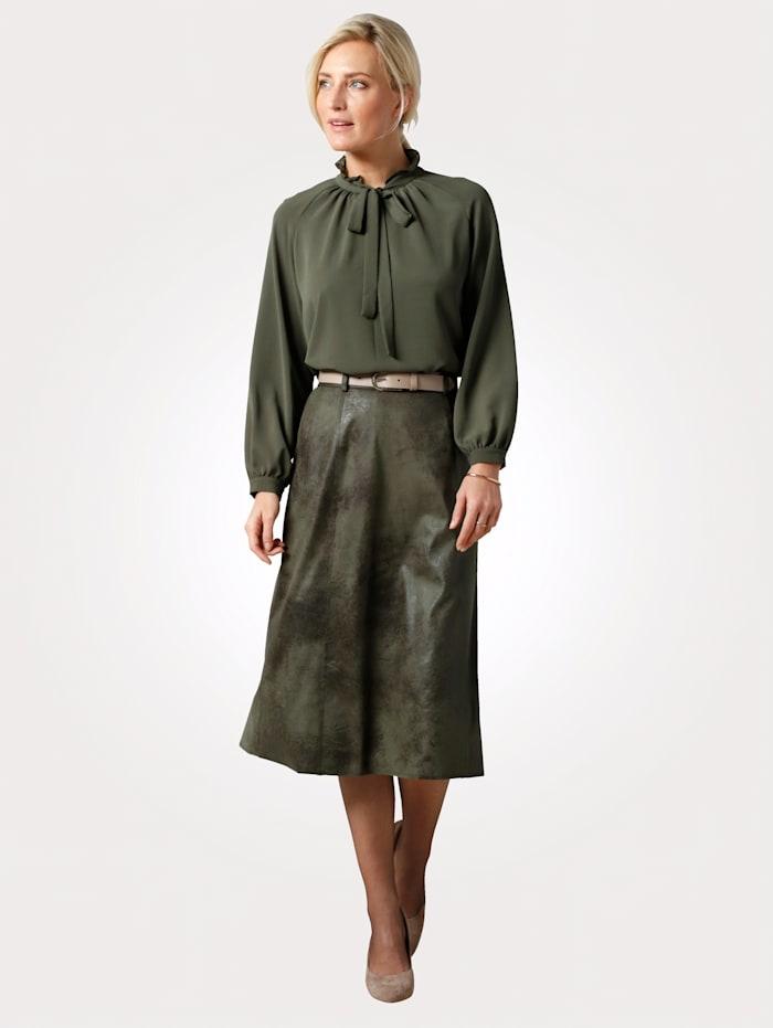 MONA Skirt with a subtle shimmer, Olive