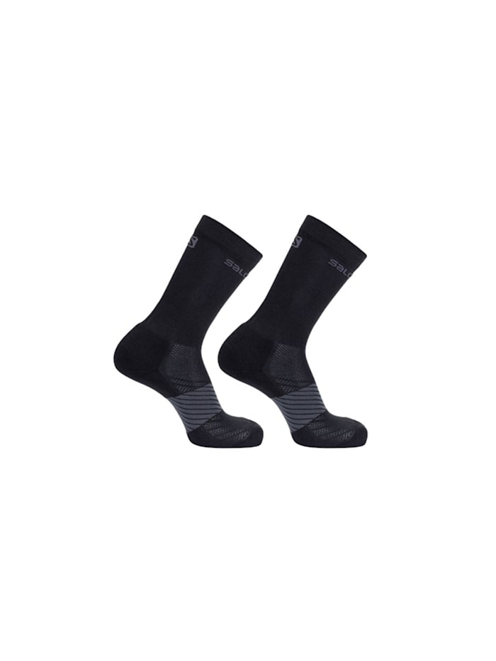 Salomon Trail Running Socken 2er-Pack in dezentem Design, BLACK/BLACK