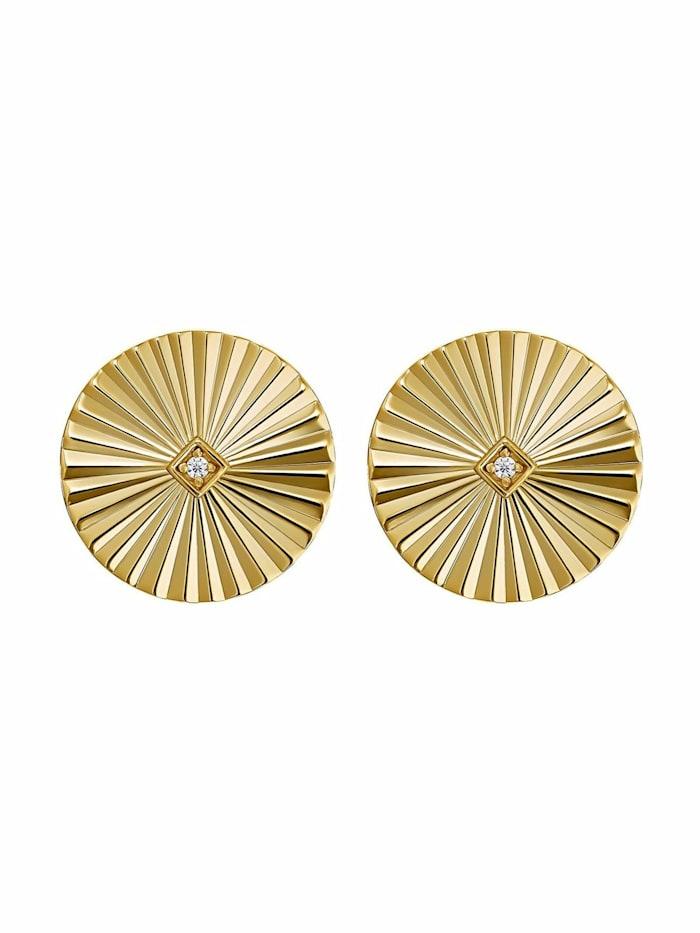 Noelani Ohrstecker für Damen, Sterling Silber 925 vergoldet, Sunrays, Gold
