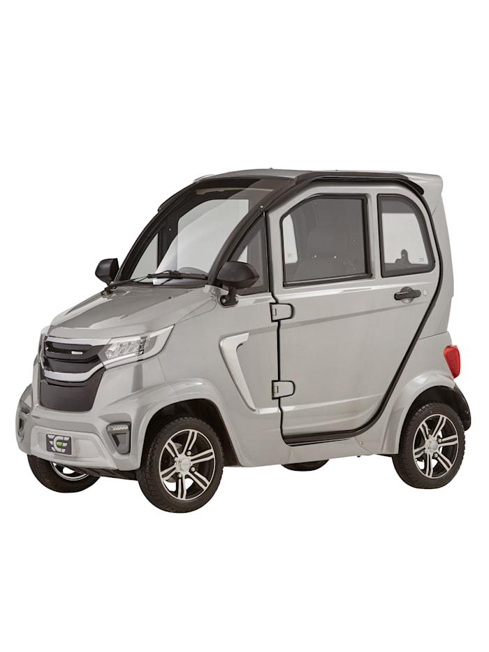 ECABINO 4-Rad eLazzy Premium 45 km/h Mit Vor-Ort-Einweisung, Silberfarben