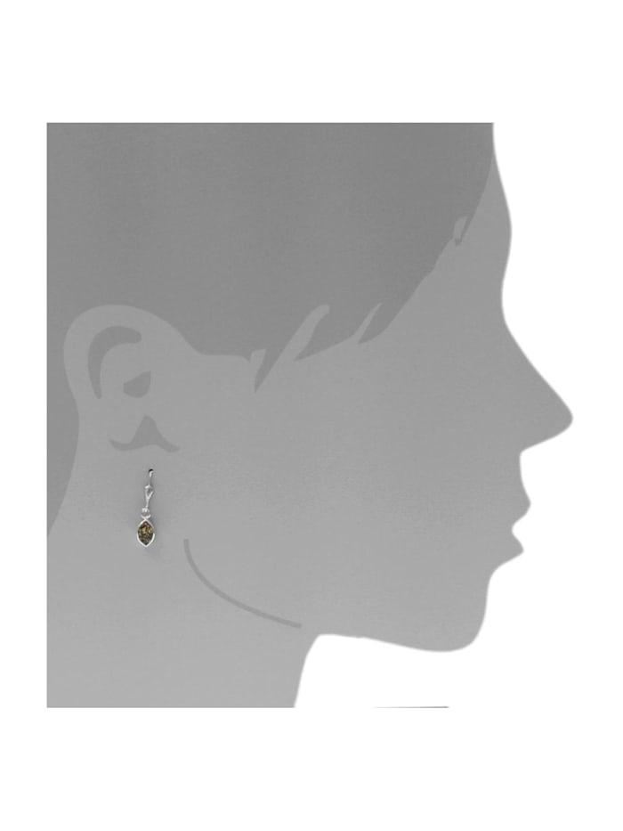 Ohrhänger - Classic 8x4 mm - Silber 925/000 - Bernstein