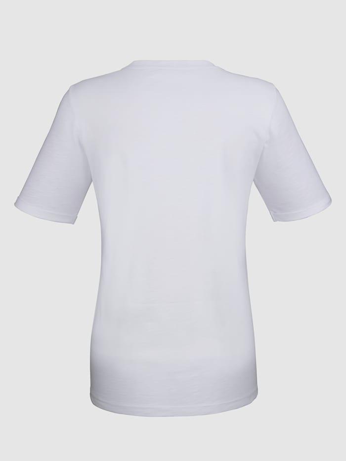 Shirt mit Kirsche aus Pailetten im Vorderteil
