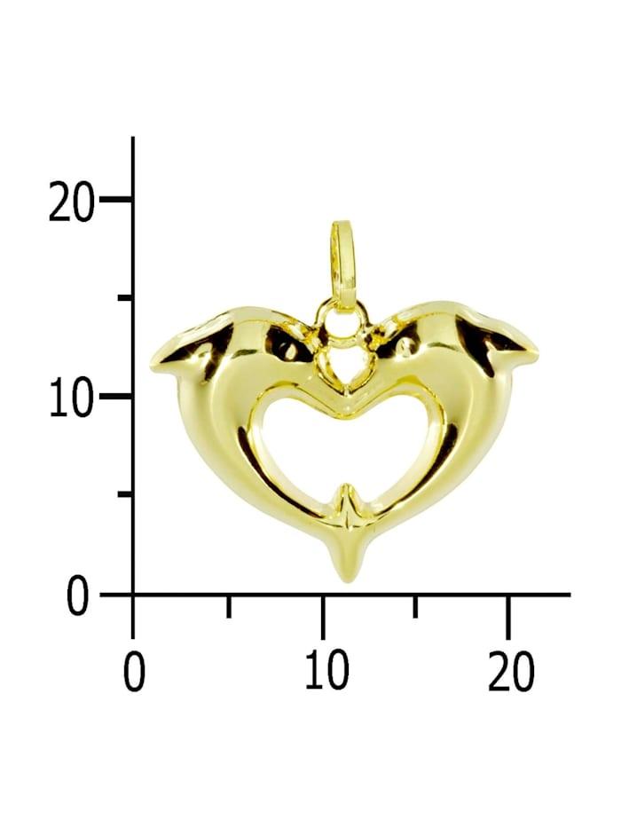 Anhänger - Delphinpaar - Gold 333/000 - ,