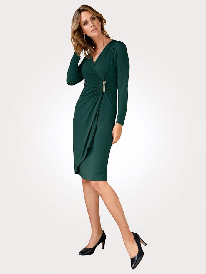MONA Robe à boucle décorative, Vert