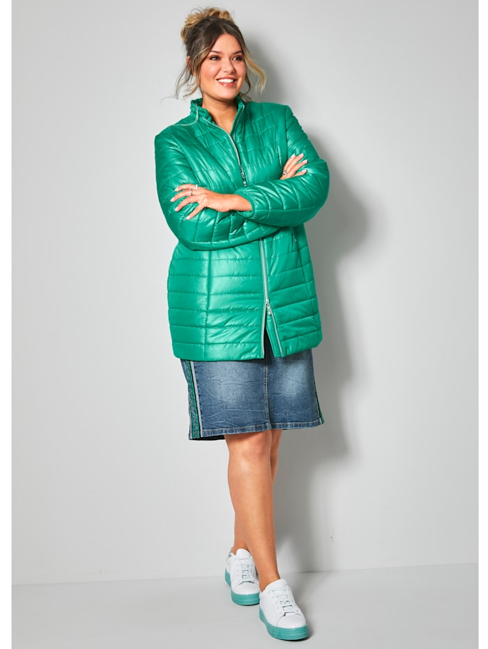 Doorgestikte jas met tweewegrits