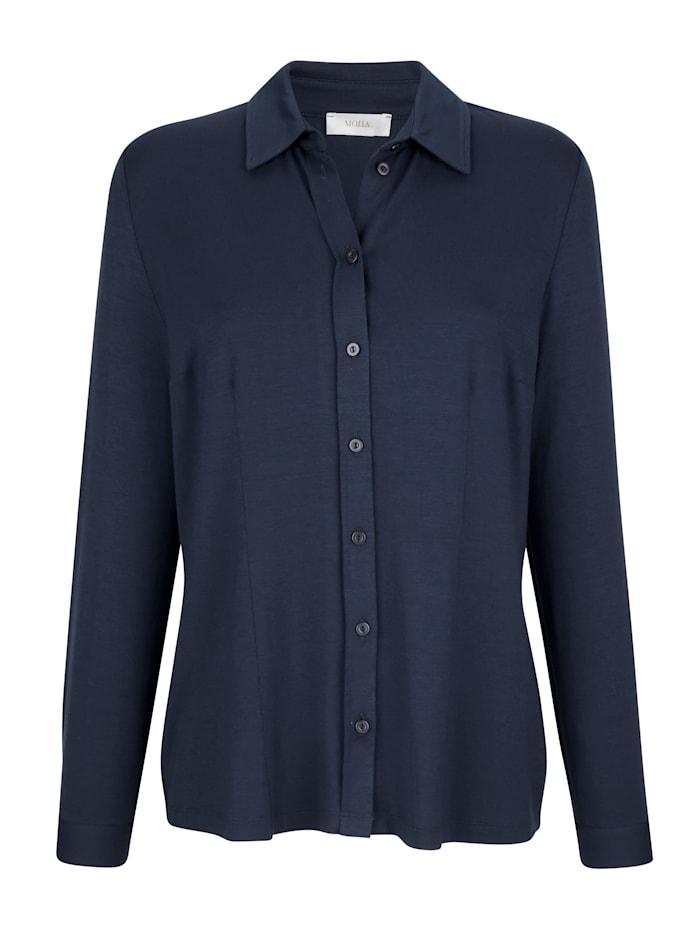 Jersey blouse met aangestikte knoopsluiting