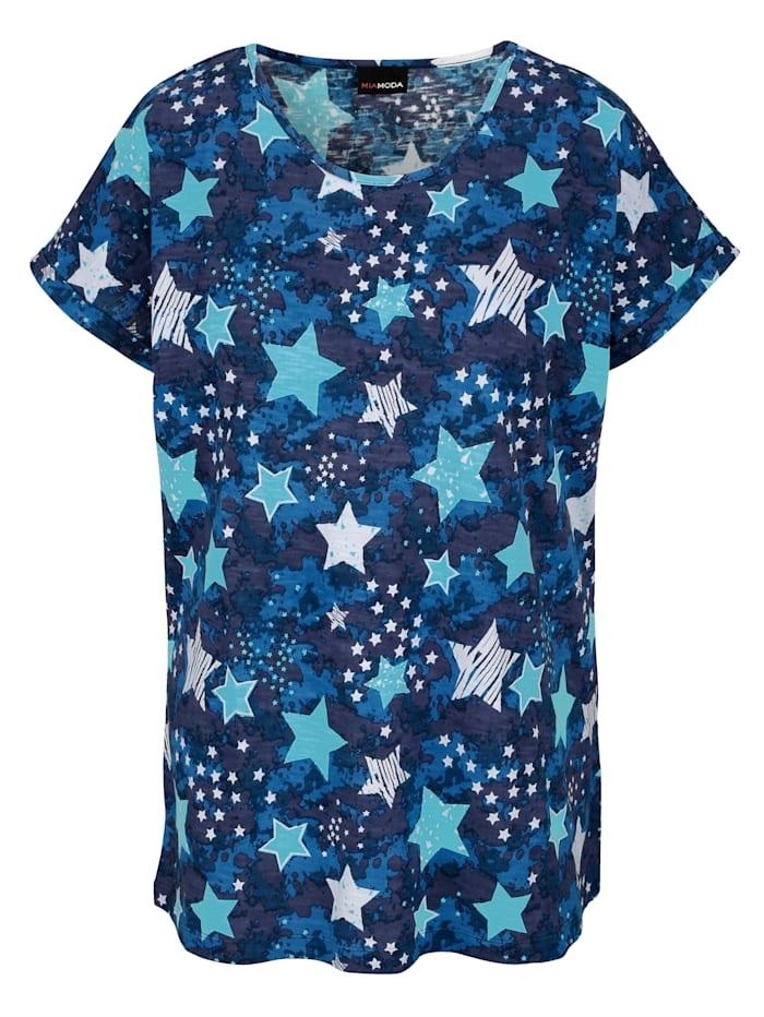 Shirt met sterrenmotief