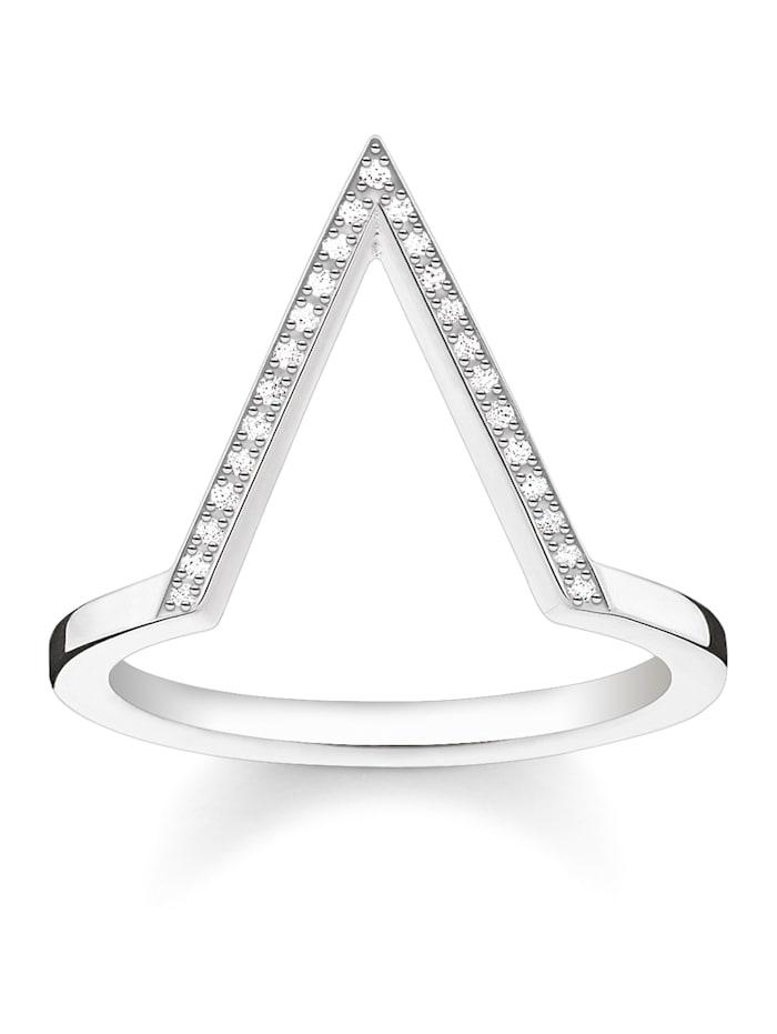 Thomas Sabo Damenring mit Diamanten D_TR0020-725-14, Weiß