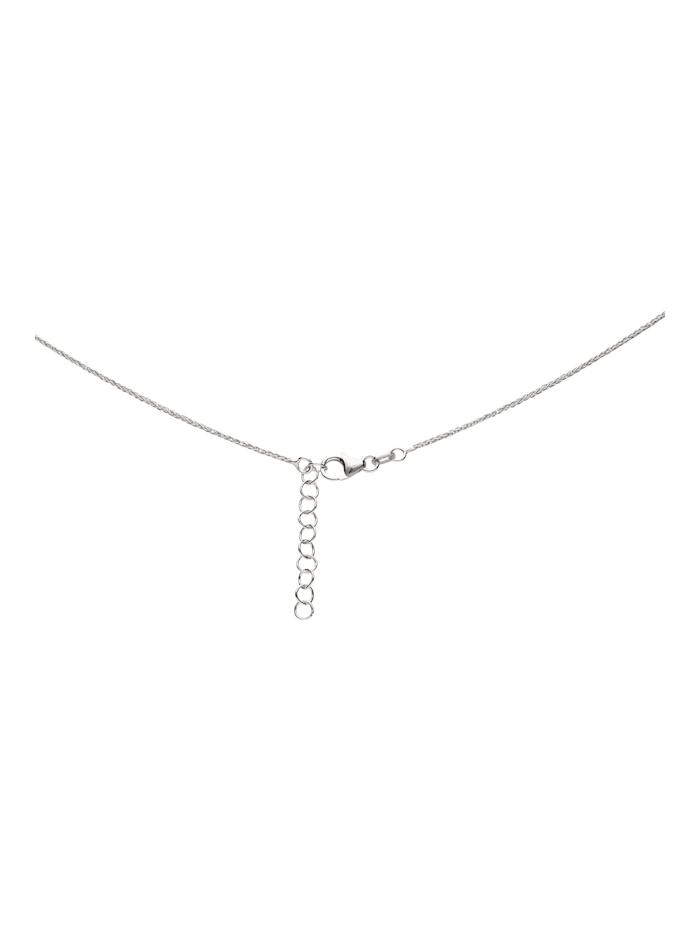Kette Herz-Anhänger mit Zirkonia, Silber 925