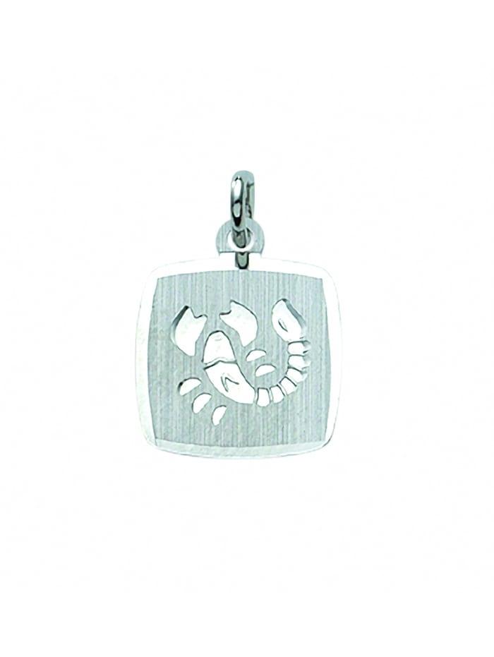 1001 Diamonds Damen & Herren Silberschmuck 925 Silber Sternzeichen Anhänger Skorpion, silber
