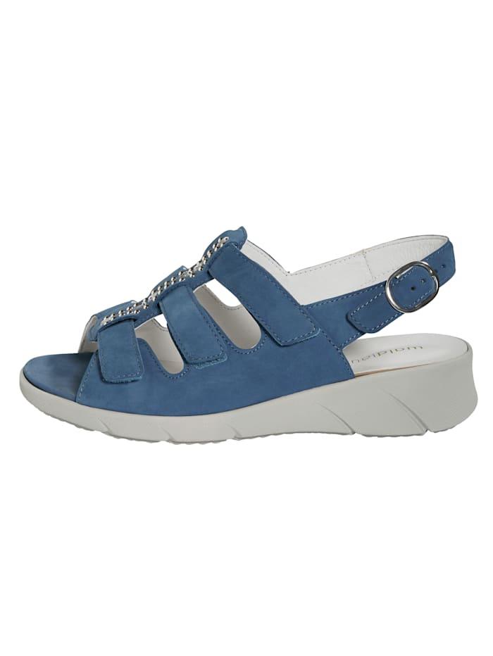 Sandale mit Steinchenverzierung