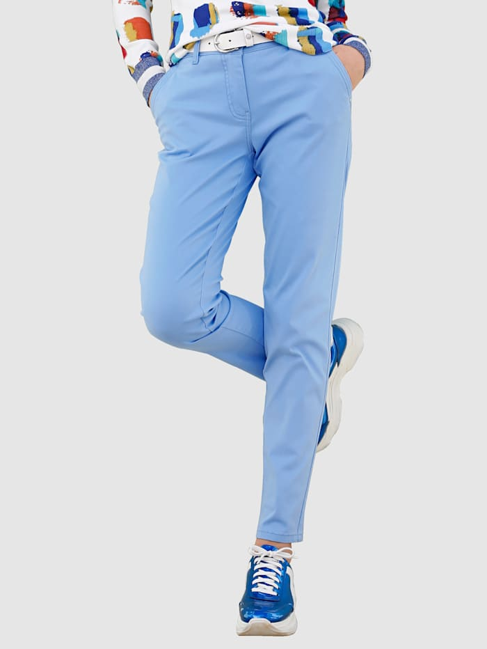 AMY VERMONT Chinohose in angesagten Farben, Hellblau