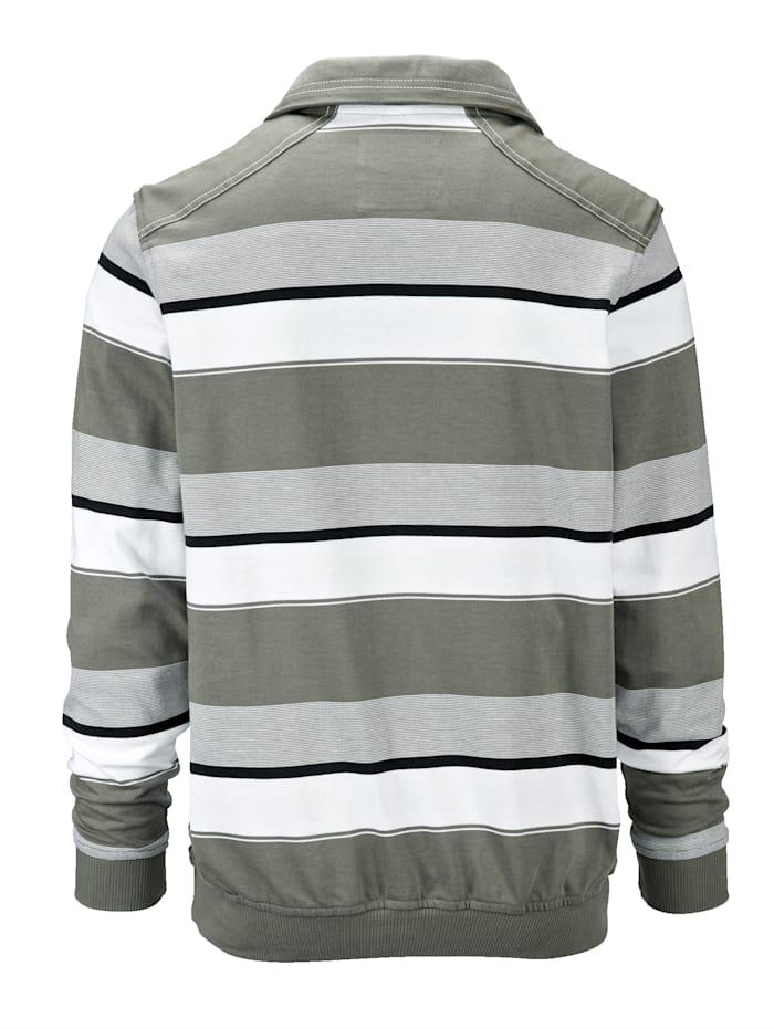Sweat-shirt avec un passepoil contrasté