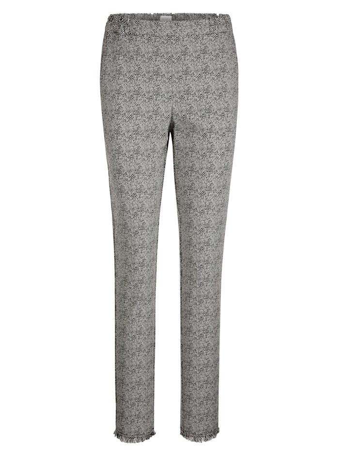 Pantalon à base frangée mode