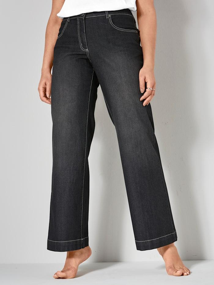 Dollywood Jeans NORA Wide Leg, Zwart