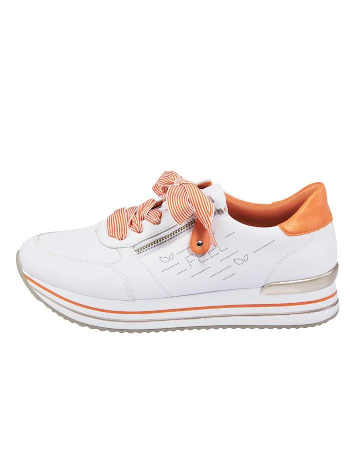 Sneaker met zacht gepolsterde rand en tong