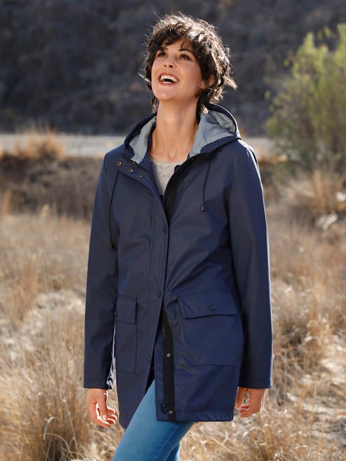 Dress In Regenjacke mit Kapuze, Marineblau
