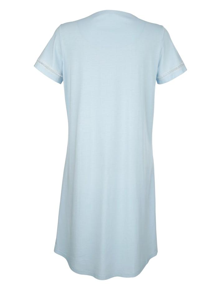 Chemise de nuit à plis décoratifs