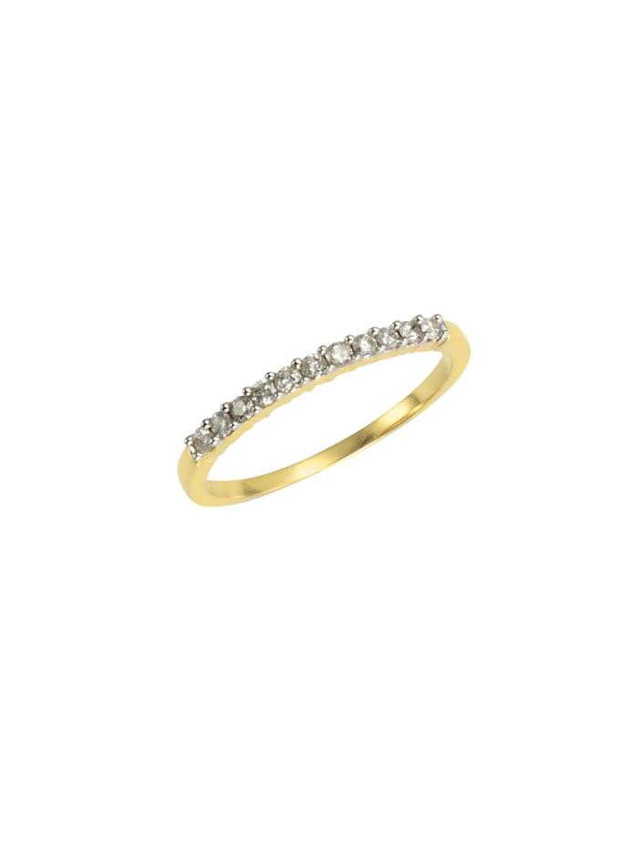Diamonds by Ellen K. Ring 585/- Gold Brillant weiß Brillant Bicolor 0,25ct. 585/- Gold, gelb