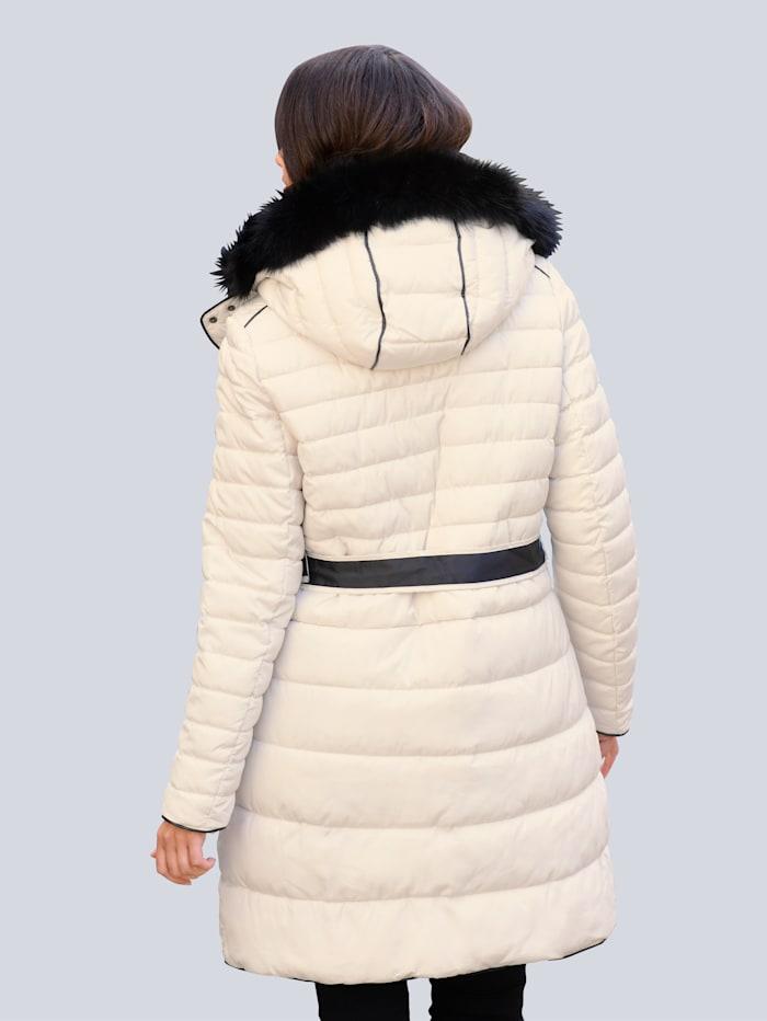 Alba Moda Mantel im modischen Querstepp in unterschiedlichen Breiten, Off-white