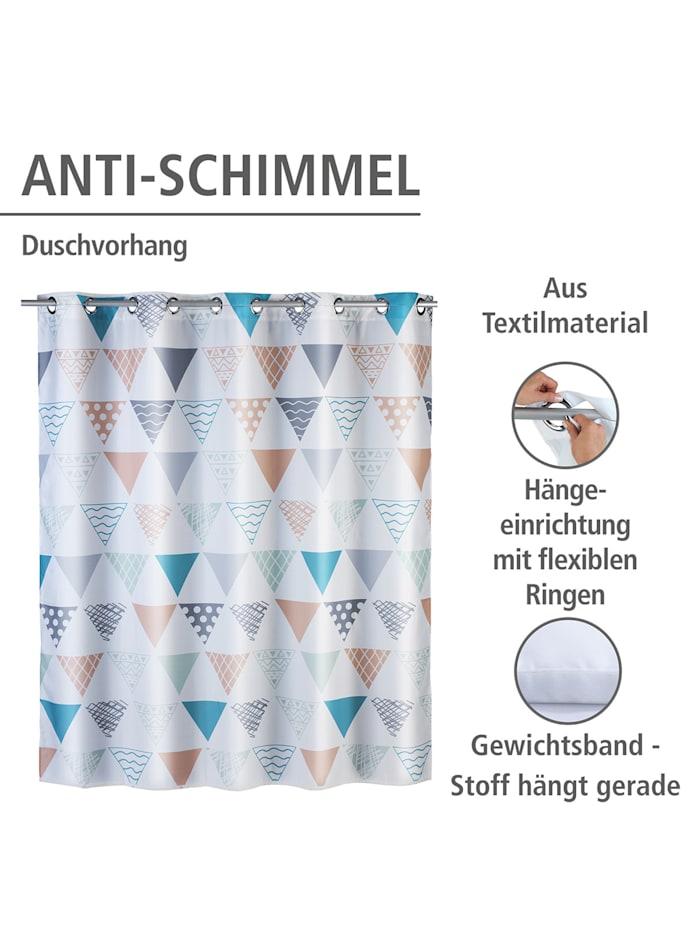 Anti-Schimmel Duschvorhang Ethno Flex, Textil (Polyester), 180 x 200 cm, waschbar