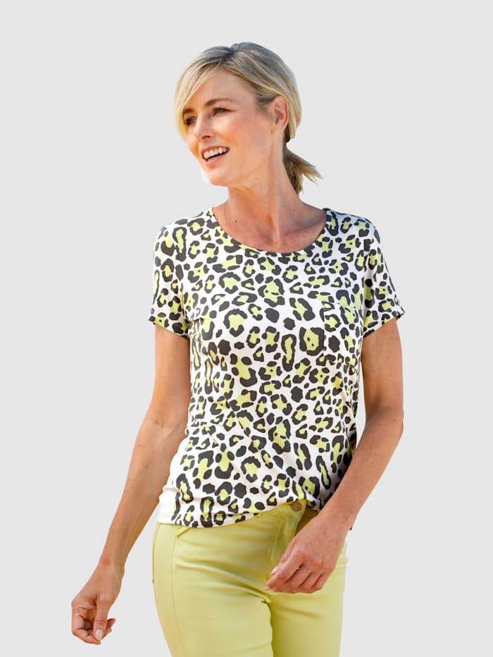 Dress In Shirt mit Animal-Druck, Off-white