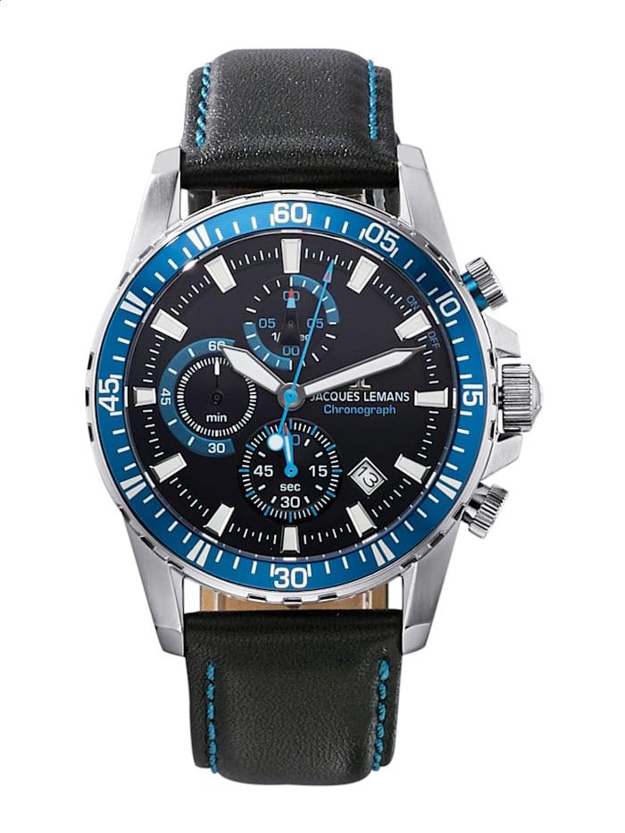Jacques Lemans Pánsky chronograf séria: Liverpool, kolekcia: Sport, 1-2088B, Modrá